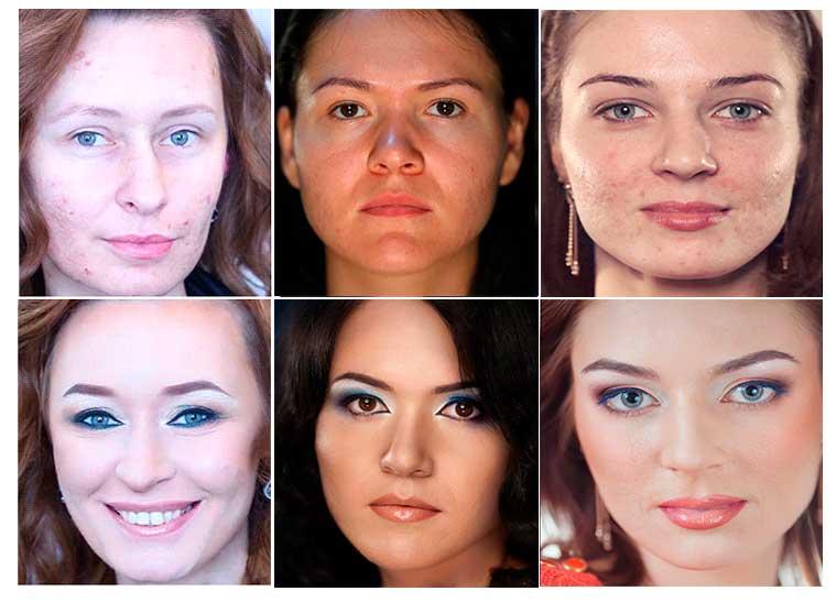 Макияж для проблемной кожи лица